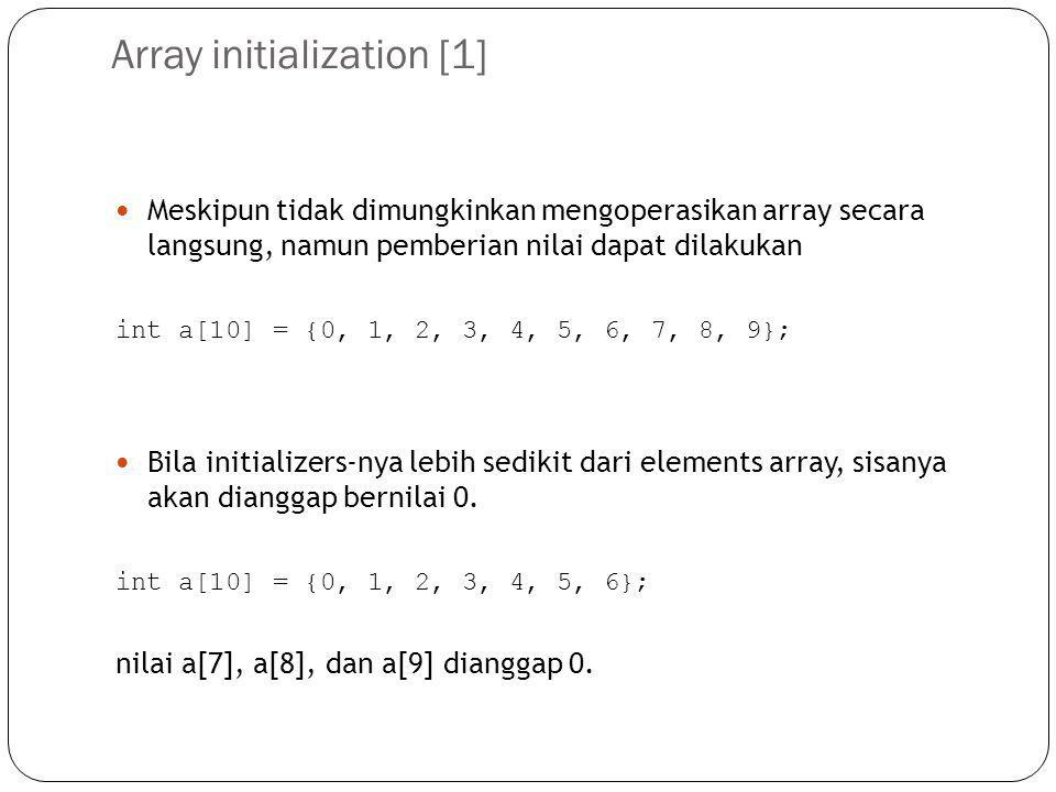 Array initialization [1]